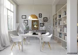esszimmer in altbau dining room in loft apartment stock