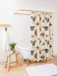 vintage motten und schmetterlinge muster duschvorhang
