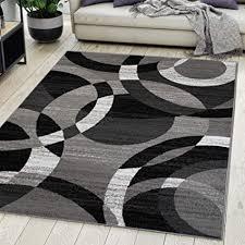 carpeto rugs teppich wohnzimmer kurzflor grau modern geometrisch muster öko tex 300 x 400 cm