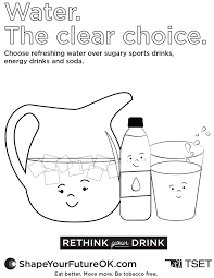 Download Water The Clear Choice Coloring Sheet