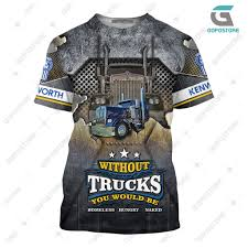 100 Pictures Of Cool Trucks KW Truck 3D All Over Printed Shirts Gopostore