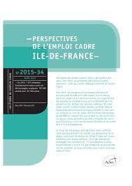 etude apec perspectives de l emploi cadre en ile de édition
