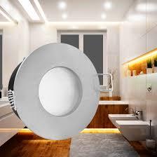 rw 1 led einbaustrahler spot bad dusche edelstahl gebürstet ip65 4 9w warmweiß dimmbar gu10 230v master ledspot mv philips