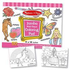 Melissa And Doug Jumbo Multi Theme Coloring Pad