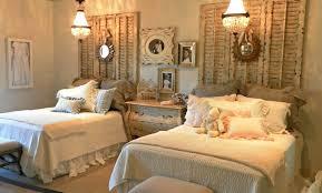 Rustic Vintage Bedroom Shelf Top Fireplace Geometrical