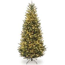 Christmas Trees Prelit Slim by The Holiday Aisle 7 5 U0027 Natural Fraser Slim Fir Hinged Tree With