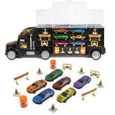 100 Toy Car Carrier Truck Details About Transport Rier Set 18 In 1 Multi Colour Transporter For Kids