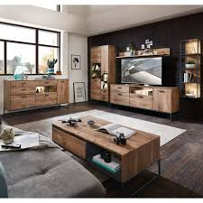 wohnzimmer möbel serie minneapolis 55 in haveleiche cognac mit graphit