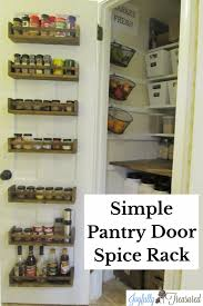 Wood Pantry Door Spice Rack from IKEA and the Pantry is finished
