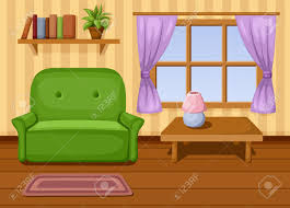 Charming Living Room Cartoon Png Vector Illustration Schemes