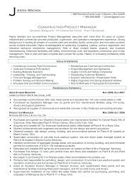 Construction Manager Resume Example Objective Examples