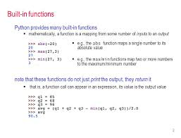 Mathceil Python 3 by 1 Csc 221 Introduction To Programming Fall 2012 Functions