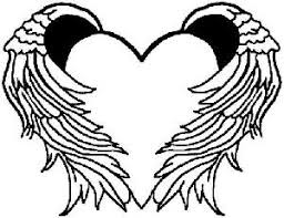 14 Images Of Drawings Hearts With Wings Coloring Pages