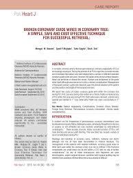 PDF BROKEN CORONARY GUIDE WIRES IN