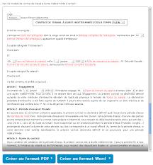 periode d essai cadre modèle de contrat de travail cdi gratuit parchance fr