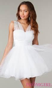 short sleeveless babydoll corset prom dress promgirl