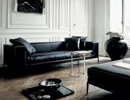 canape cuir design contemporain le mobilier de design contemporain de bb italia canapé noir