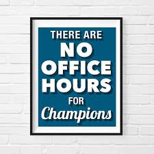 Champions Motivational Print Poster Office Decor Gift For Boss Cool Wall Art Inspirational Quote