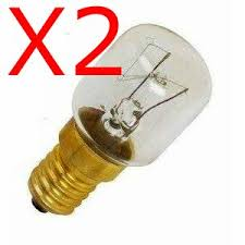 2x oven light bulb 15w e14 ses oven l light bulb 300 degrees