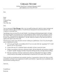 Sales Cover Letter Sample Marketing