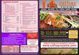 cuisine co takeaway menu cathay cuisine g77 takeaway glasgow g77