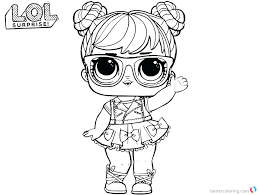 Lol Doll Coloring Pages Bon Surprise Spice And Bonbon Birthday