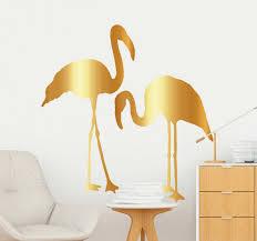 aufkleber tier flamingo silhouette gold
