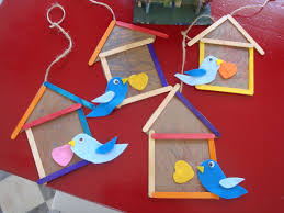Craft Work With Icecream Sticks To Kids Inspirational Bird Houses Popsicle Stick Birdhouse From The Playful Garden Library