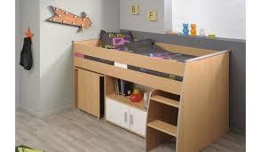 lit enfant bureau lit 1 place avec rangement bureau intégré enfant novomeuble