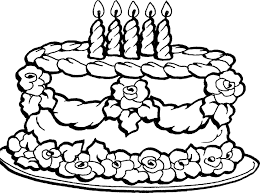 Pictures Birthday Cake Coloring Pages 90 For Your Line Drawings With