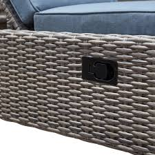 Sirio Patio Furniture Covers by Sirio Niko Chaise Lounge Chair With Side Table In Slate Starsong