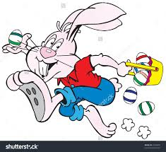 clipart images of the easter bunnies running Clipground