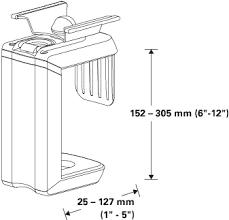humanscale cpu200 under desk mount cpu holder