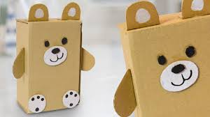 DIY Teddy Bear From Cardboard Box