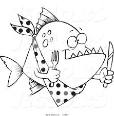 High Quality Free Piranhas Fish Coloring Pages Printable For Kids