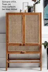 vita schrank holz wiener geflecht retro möbel matz möbel vintage designermöbel