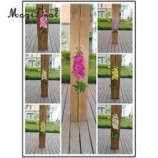 MagiDeal Artificial Silk Delphinium Flowers Leaves Plant Home Table Christmas Arrangement Dining Room Office Wedding Party