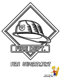 Fire Helmet Coloring At YesColoring