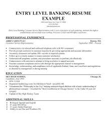 Resume Samples For Banking Sector As Well Sample Entry Level To Create Cool