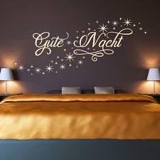 wandtattoo gute nacht sternen himmel schlafzimmer deko