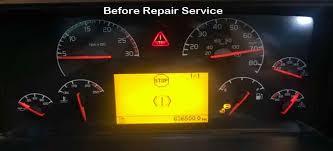 volvo vnl semi truck cluster repair service