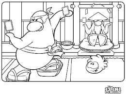 Club Penguin Coloring Page Colouring Pages