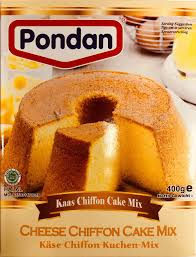 pondan cheese chiffon cake mix 400g