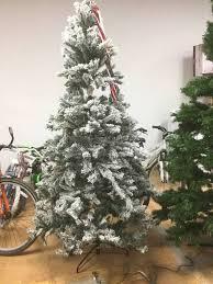 Pre Lit Flocked Artificial Christmas Trees holiday time pre lit 7 5 u0027 green flocked birmingham fir artificial