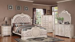 Infinity Traditional 5Pc Bedroom Set in Antique White w Options