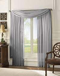 amazon com monagifts gray scarf voile window panel solid sheer
