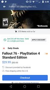 Darksiders III (PS4 Only) Via FB App Daily Steals $34.99 ... Fallout 76 Trictennial Edition Bhesdanet Key Europe This Week In Games Bethesda Ships 76s Canvas Bags Review Almost Hell West Virginia Pcworld Like New Disc Rare Stolen From Redbox Edition Youtubers Beware Targets Creators Posting And Heres For 50 Kotaku Australia Buy Fallout Closed Beta Access Pc Cd Key Compare Prices 4 Ps4 Walmart You Can Claim 500 Atoms If You Bought Game For 60 Fo76 Details About Xbox One Backlash Could Lead To Classaction Lawsuit