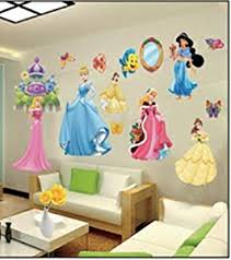 tickers chambre fille princesse wall stickers enfants stickers muraux grand disney princesse