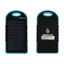 Solar Charger Brolar 5000mAH Portable Power Bank for iPhone iPad