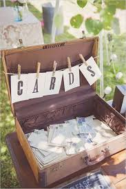 Old Suitcase Cards Ideas For Vintage Wedding